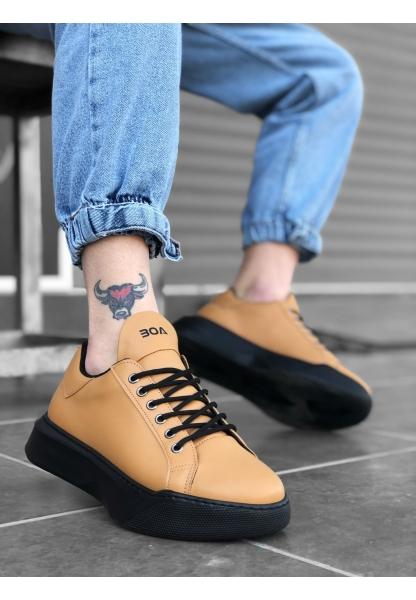 BA0161 Bağcıklı Erkek Yüksek Taban Taba Spor Ayakkabı