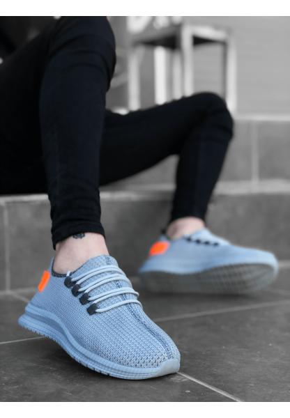 BA0167 Kalın Taban Tarz Sneakers Gri Erkek Spor Ayakkabısı