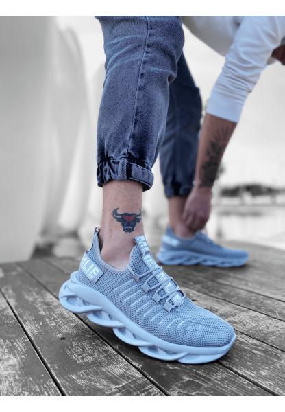 BA0602 Phantom Yüksek Taban Tarz Sneakers Gri Erkek Spor Ayakkabı