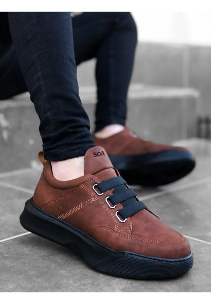 BA0160 Bantlı Erkek Yüksek Taban Taba Spor Ayakkabı