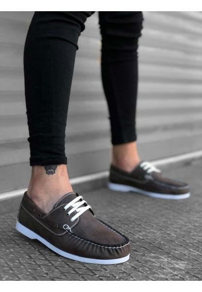 BA0177 Bağcıklı Corcik Kahverengi Klasik Erkek Ayakkabısı