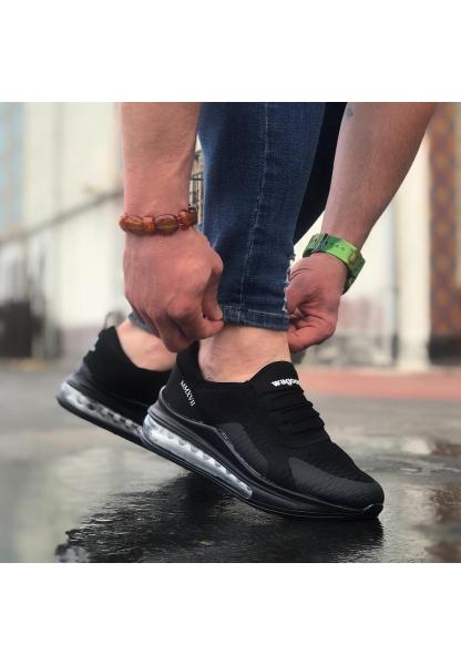 BA0105 Balon Taban Rahat Casual Siyah Gri Erkek Ayakkabısı